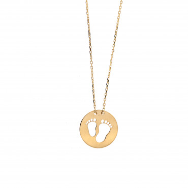 Yellow gold pendant necklace CPG17-02