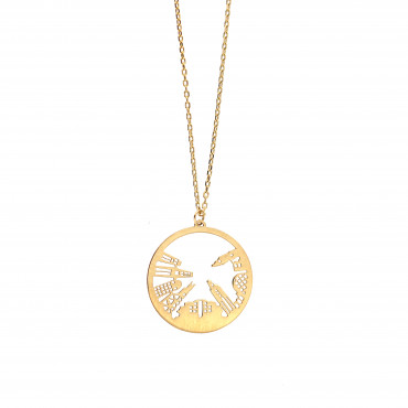 Yellow gold pendant necklace CPG18-01
