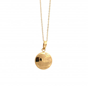 Yellow gold pendant necklace CPG18-02