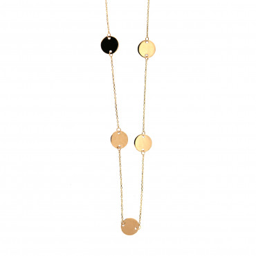 Yellow gold pendant necklace CPG19-01