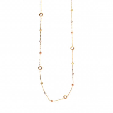 Yellow gold pendant necklace CPG19-02