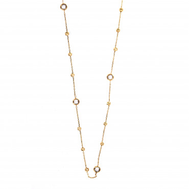 Yellow gold pendant necklace CPG19-03