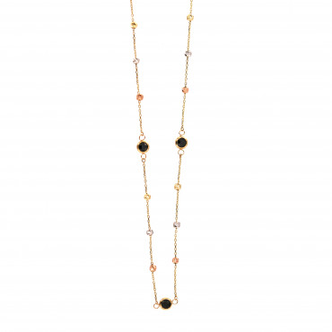 Yellow gold pendant necklace CPG19-04