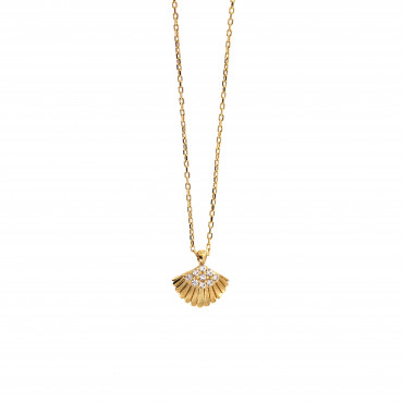 Yellow gold pendant necklace CPG20-01