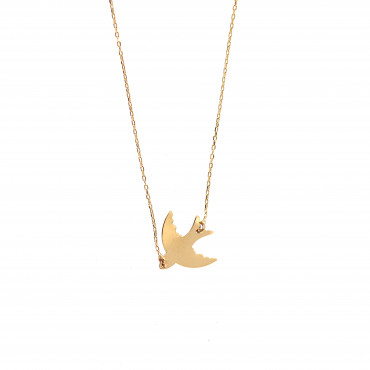 Yellow gold pendant necklace CPG21-01