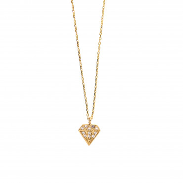 Yellow gold pendant necklace CPG22-01