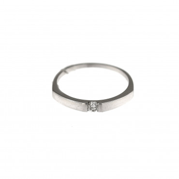 White gold engagement ring with diamond DBBR06-03