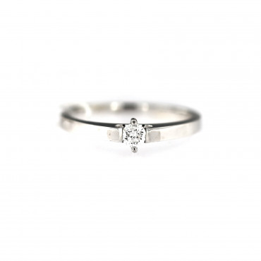 White gold engagement ring with diamond DBBR06-04