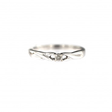 White gold engagement ring with diamond DBBR06-05