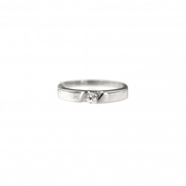 White gold engagement ring with diamond DBBR06-11