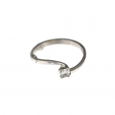 White gold engagement ring with diamond DBBR08-04