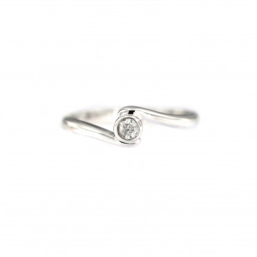 White gold engagement ring with diamond DBBR08-06