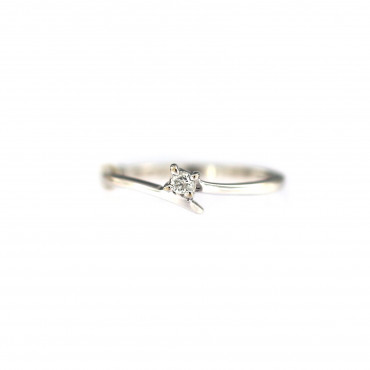 White gold engagement ring with diamond DBBR08-08