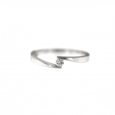 White gold engagement ring with diamond DBBR08-09