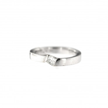 White gold engagement ring with diamond DBBR08-10