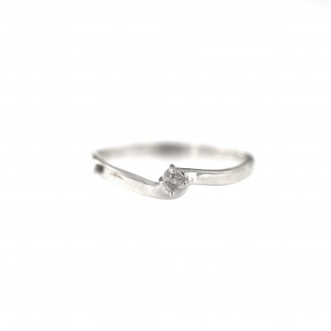 White gold engagement ring with diamond DBBR08-11