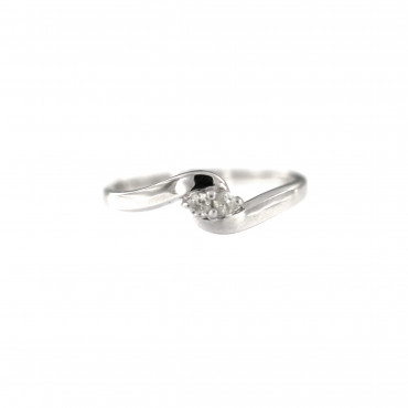 White gold engagement ring with diamond DBBR08-12