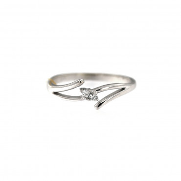 White gold engagement ring with diamonds DBBR09-01