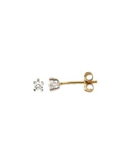 Geltono aukso auskarai su briliantais BGBR01-01-05