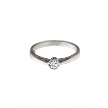 White gold engagement ring with diamond DBBR02-06