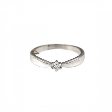 White gold engagement ring with diamond DBBR02-07