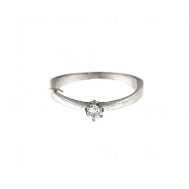 White gold engagement ring with diamond DBBR02-08