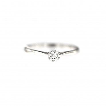 White gold engagement ring with diamond DBBR02-13
