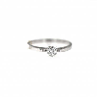 White gold engagement ring with diamond DBBR02-15