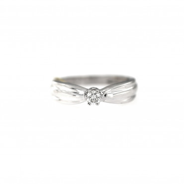 White gold engagement ring with diamond DBBR02-17