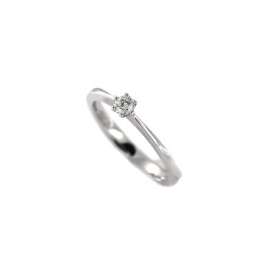 White gold engagement ring with diamond DBBR02-19