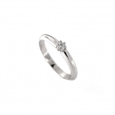 White gold engagement ring with diamond DBBR02-20