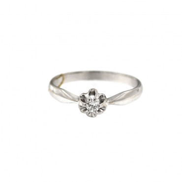 White gold engagement ring with diamond DBBR04-01