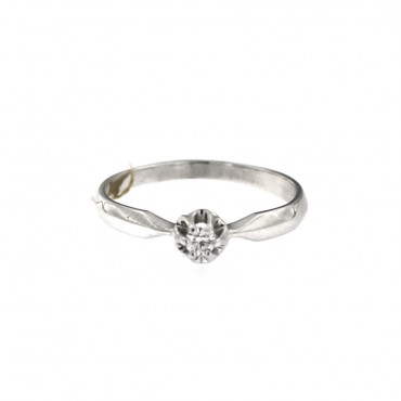 White gold engagement ring with diamond DBBR04-02