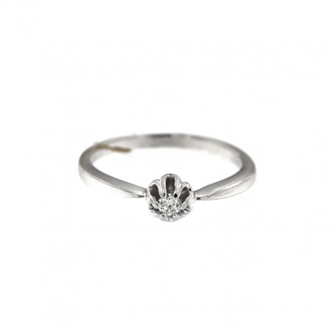 White gold engagement ring with diamond DBBR04-03