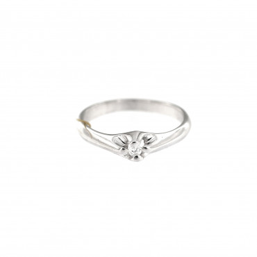 White gold engagement ring with diamond DBBR04-04