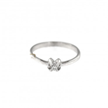 White gold engagement ring with diamond DBBR04-05
