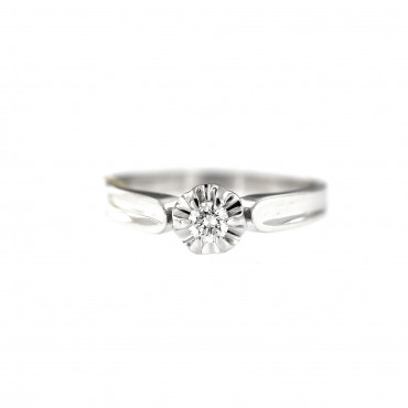 White gold engagement ring with diamond DBBR04-07