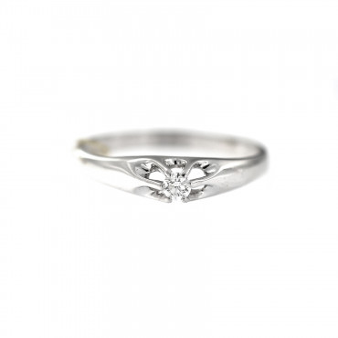 White gold engagement ring with diamond DBBR04-08