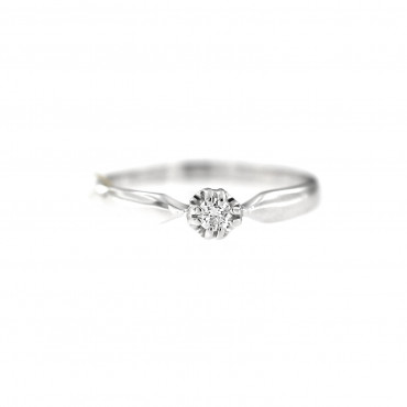 White gold engagement ring with diamond DBBR04-09
