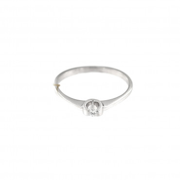 White gold engagement ring with diamond DBBR05-01