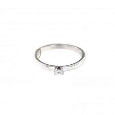 White gold engagement ring with diamond DBBR05-02