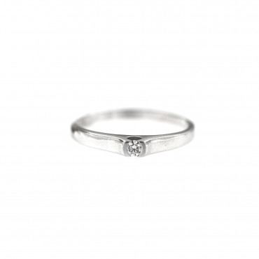 White gold engagement ring with diamond DBBR05-04