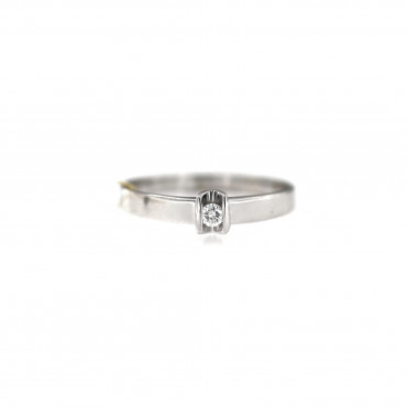 White gold engagement ring with diamond DBBR05-06