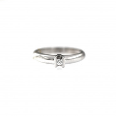 White gold engagement ring with diamond DBBR05-07