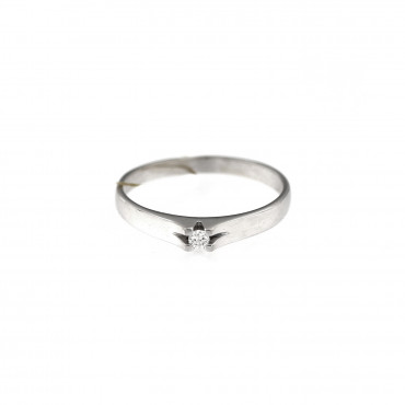 White gold engagement ring with diamond DBBR06-07