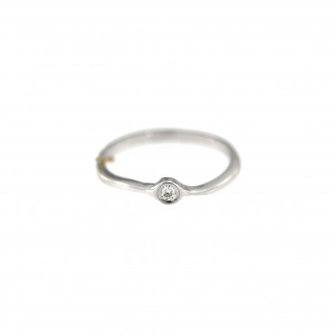 White gold engagement ring with diamond DBBR06-08