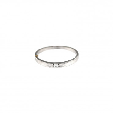 White gold engagement ring with diamond DBBR06-09