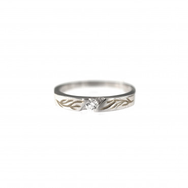 White gold engagement ring with diamond DBBR06-10