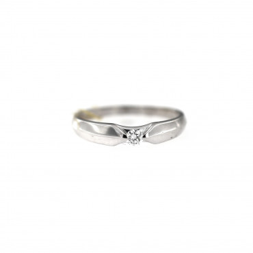 White gold engagement ring with diamond DBBR06-12