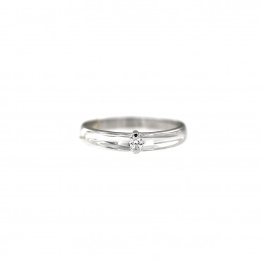 White gold engagement ring with diamond DBBR06-15